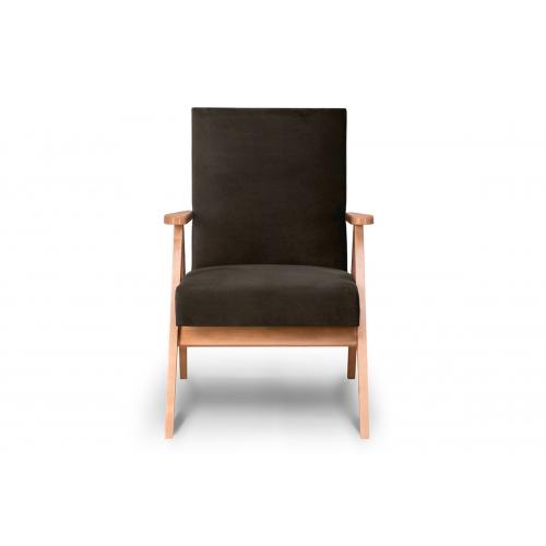 Fotelis NASE, rudas, 60x75x90 cm