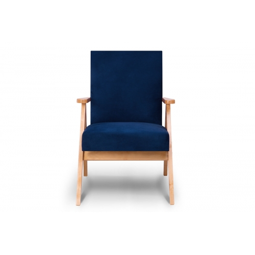 Fotelis NASE, mėlynas, 60x75x90 cm