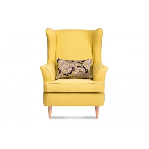 Fotelis STRAL, geltonas, 82x80x108 cm