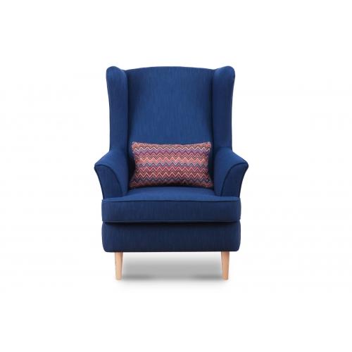 Fotelis STRAL, mėlynas, 82x80x108 cm