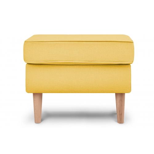 Pufas STRAL, geltonas, 56x41x43 cm