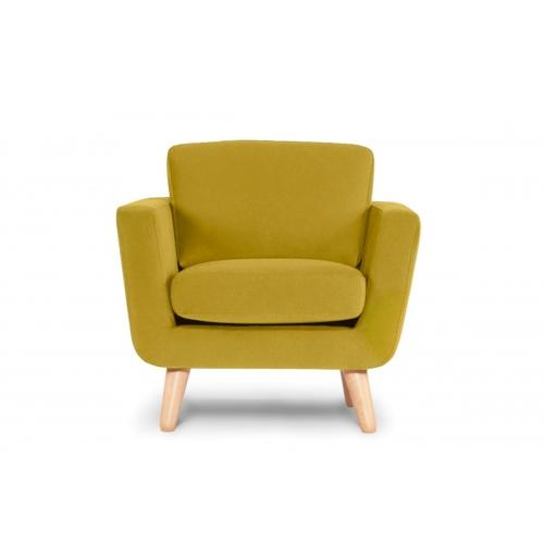 Fotelis TAGO, geltonas, 86x88x80 cm