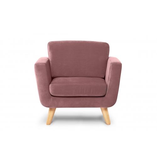 Fotelis TAGO, rožinis, 86x88x80 cm