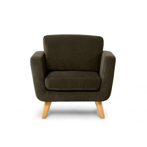 Fotelis TAGO, rudas, 86x88x80 cm