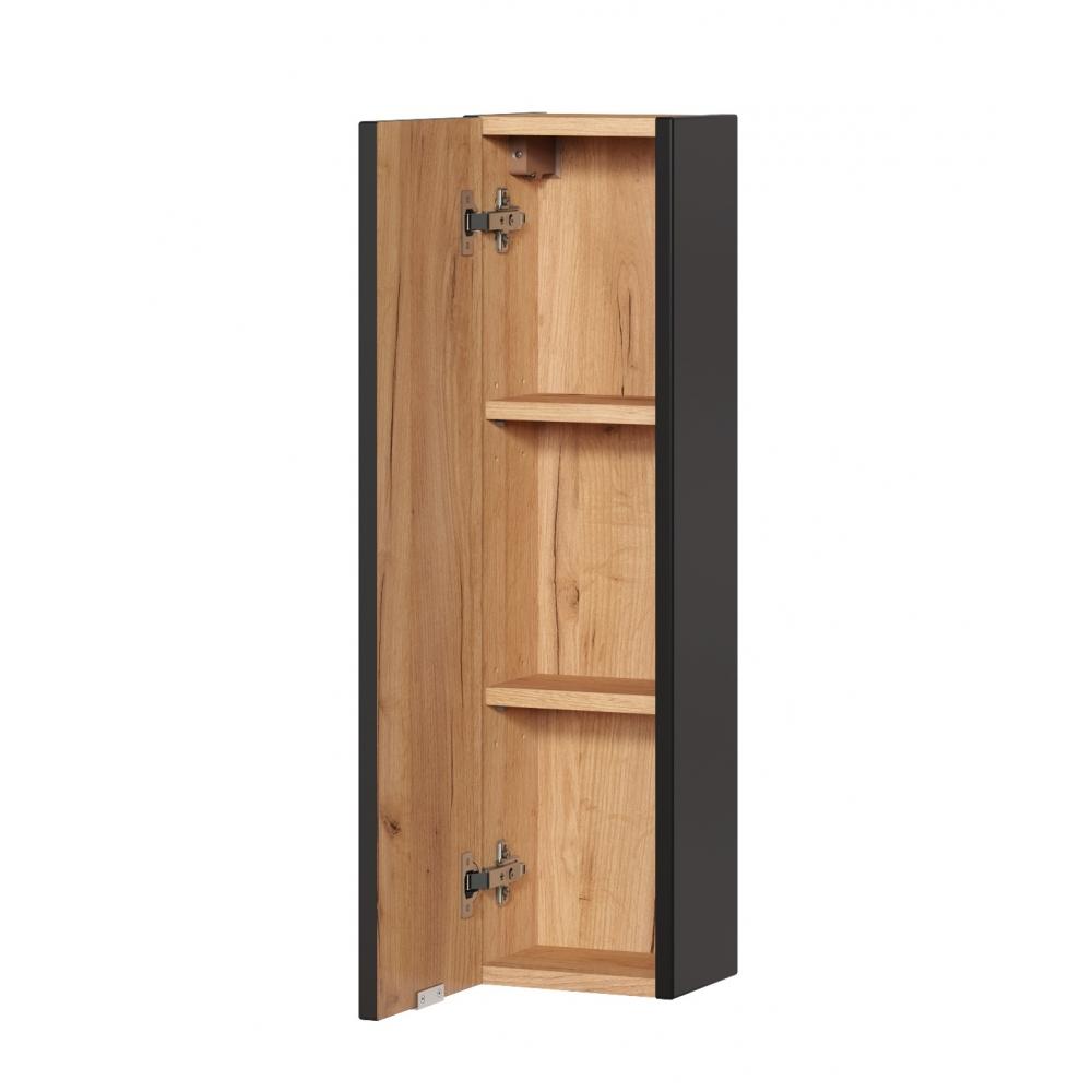 CAPPRI BLACK stiliaus vonios spintelė, pakabinama, medinė