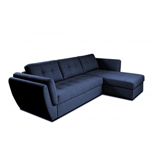 Minkštas kampas HALO, mėlynas, kairinis/dešininis, 286x162x87 cm