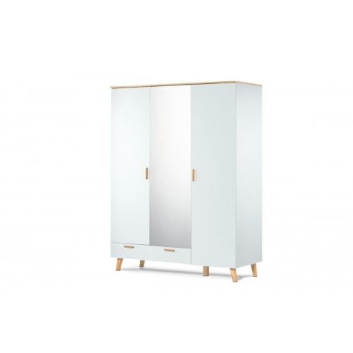 Tridurė spinta su veidrodžiu FRISO WHITE