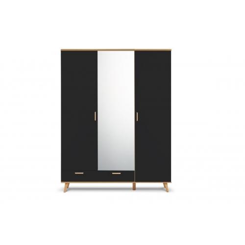 Tridurė spinta su veidrodžiu FRISO GRAFIT