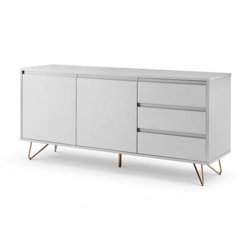 Modernaus dizaino komoda, skandinaviško stiliaus, plati