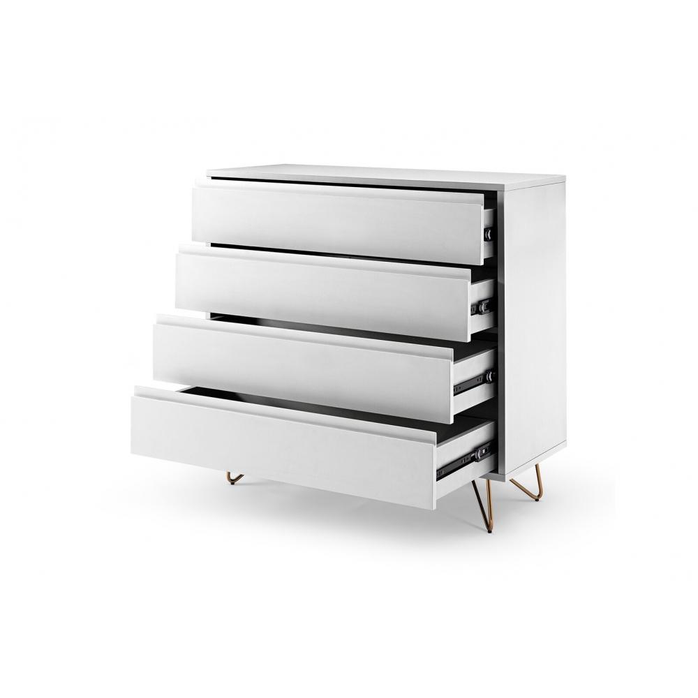 Modernaus dizaino komoda, skandinaviško stiliaus, aukšta