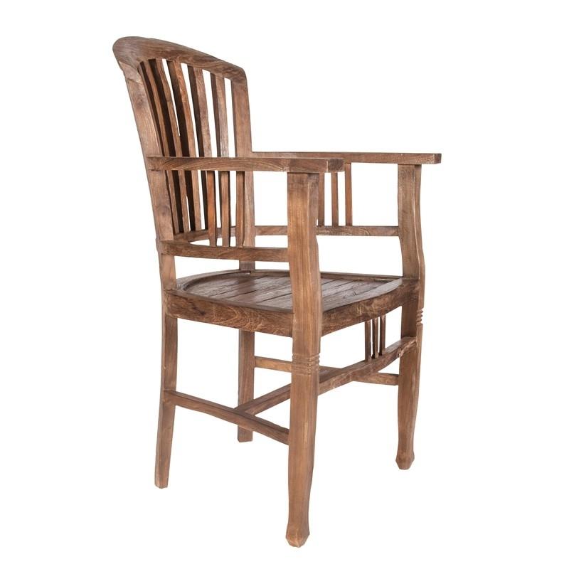 sendinto dizaino, senovinio stiliaus kėdė, su porankiais