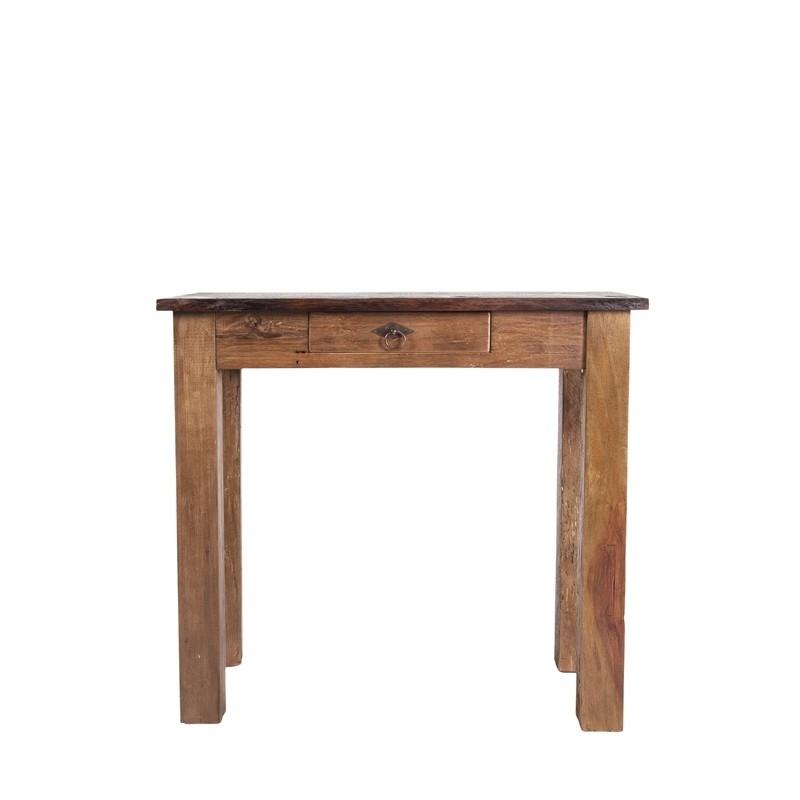 klasikinio stiliaus konsolė, natūralaus medžio, su stalčiumi