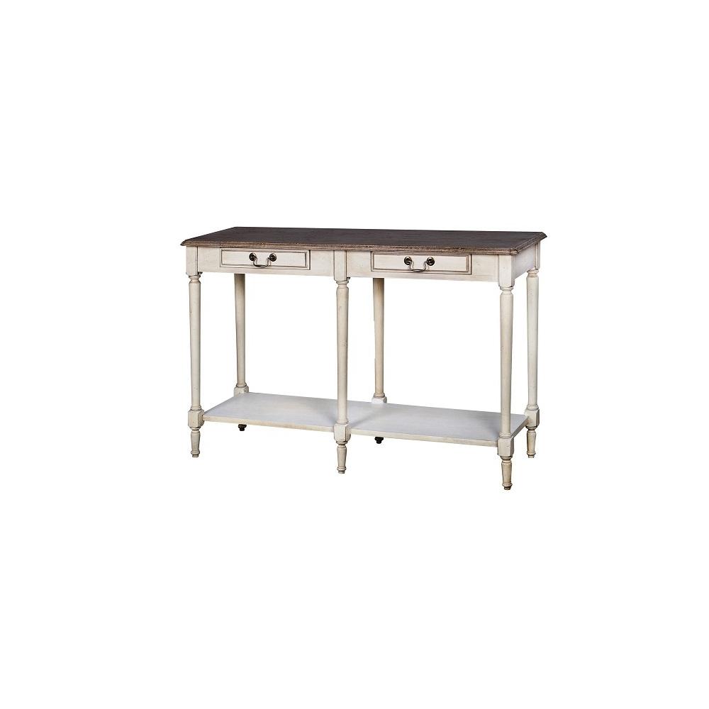 Konsolė 830 LIMENA - provanso stiliaus kosmetinis staliukas 120x40x76 cm. Sendinta technologija sukuria išskirtinumą