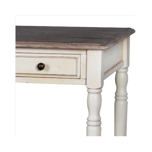 provanso stiliaus komoda, su 3 stalčiais, šviesiai kreminės spalvos