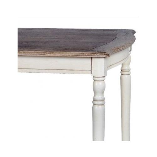 veidrodis LIMENA stiliaus stalas, kreminės spalvos, medinis