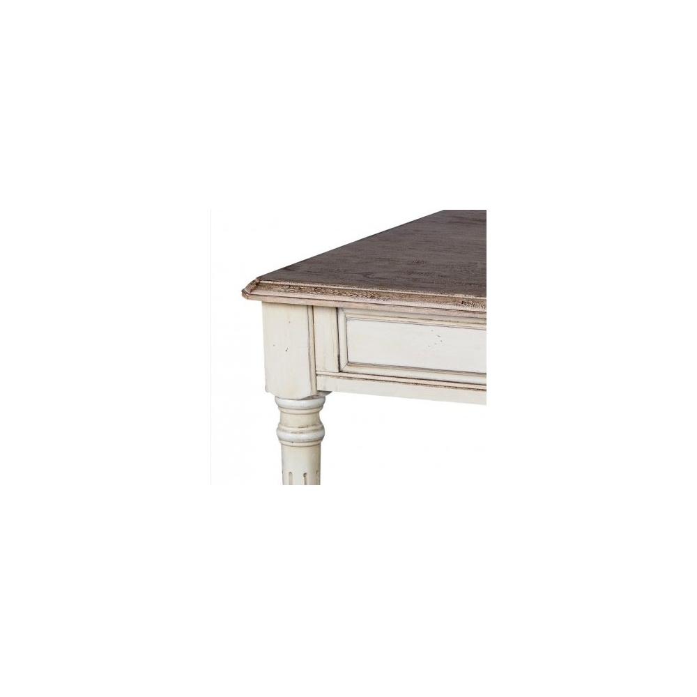 Žurnalinis staliukas 821 LIMENA - 60x60x48 cm provanso stiliaus stalas iš kaučiukmedžio.