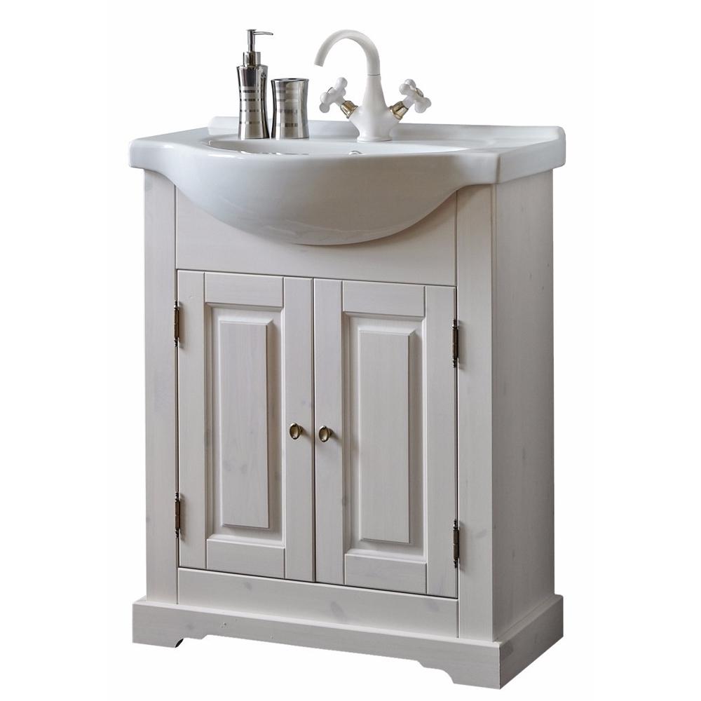 Klasikinio dizaino vonios spintelė su praustuvu, pakabinama, natūralios medienos