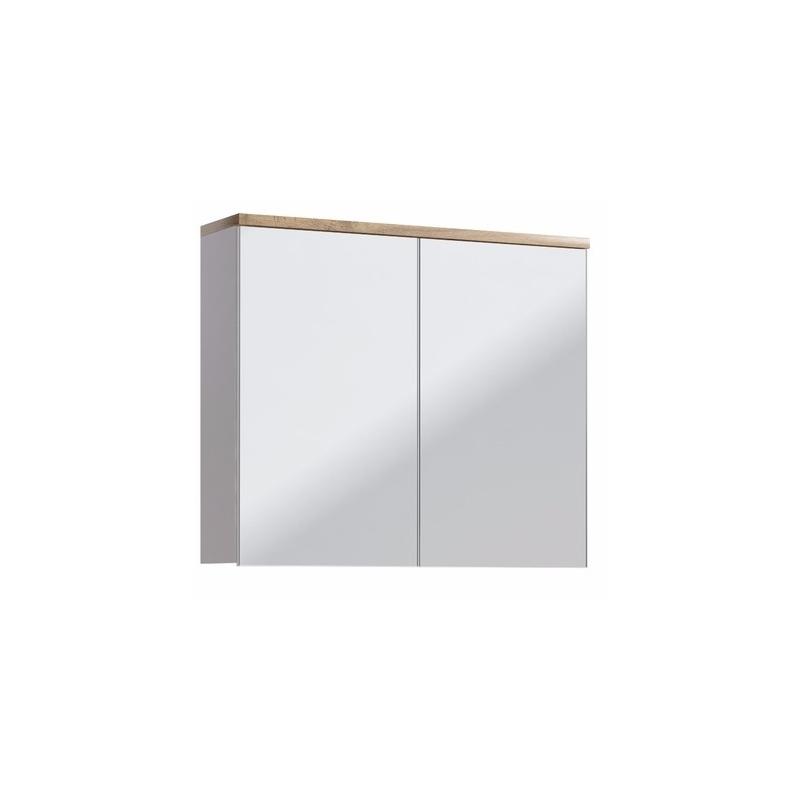 GOTLAND stiliaus veidrodis-spintelė, pakabinamas, baltas