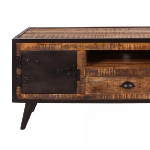 Industrinio stiliaus TV stalas, retro dizaino, antikvarinio stiliaus