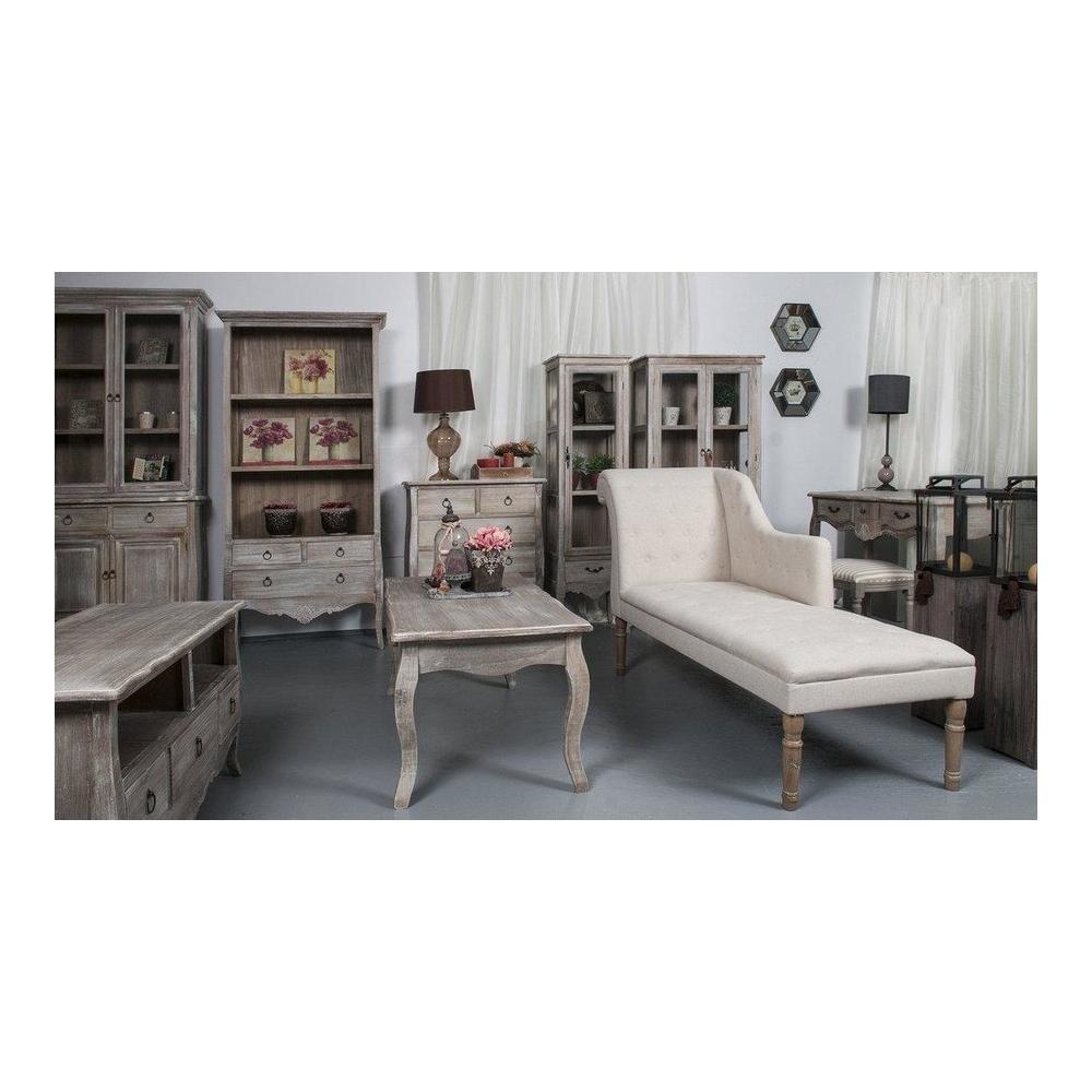 Naktinis staliukas 021B MERANO - 36x31x68 cm - provanso stiliaus maža komodėlė prie lovos.