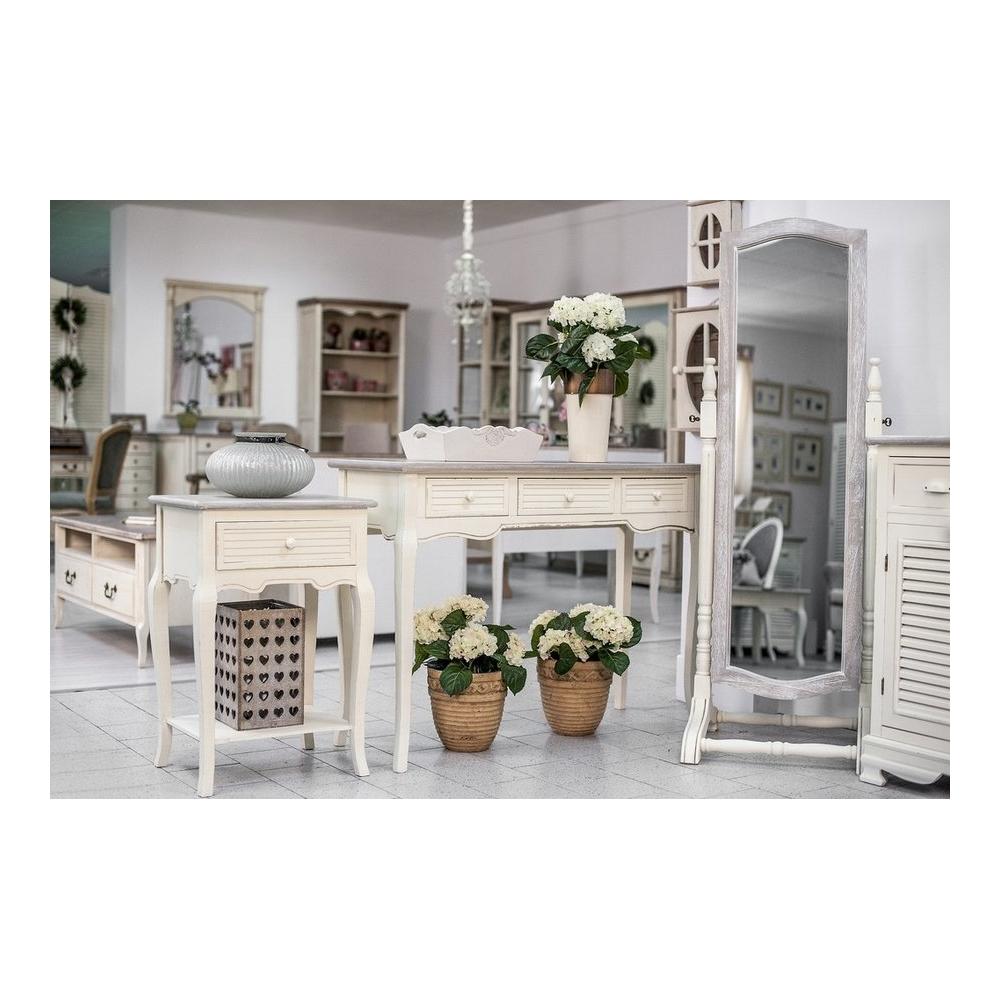 Žurnalinis staliukas PESARO - medinis šviesiai dažytas svetainės arba valgomojo stalas 120x60x50 cm.