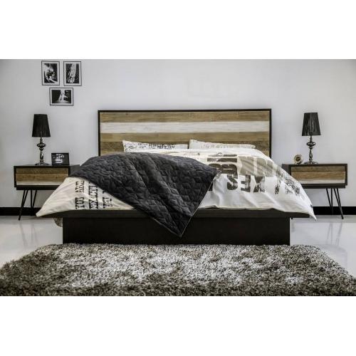 Retro lova, metalinėmis kojomis, didelė