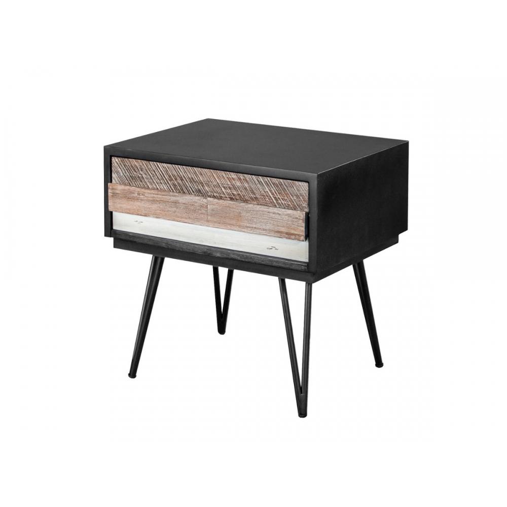 ADESSO stilius, juodas staliukas, retro