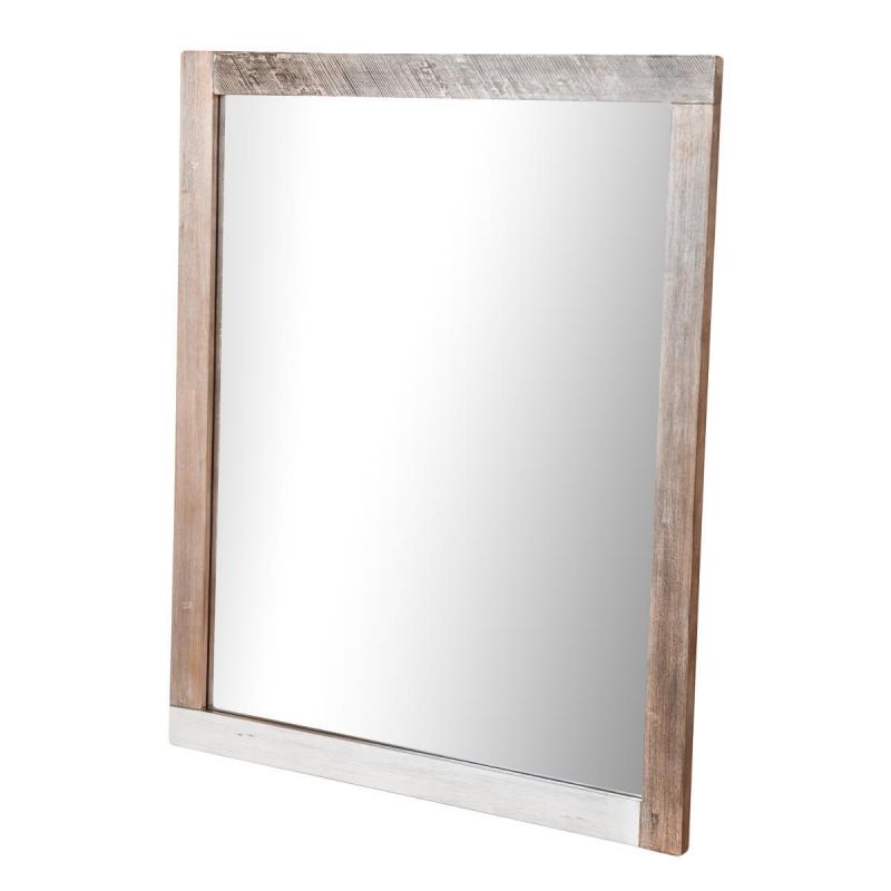 ADESSO stilius, medinis veidrodis, rudas