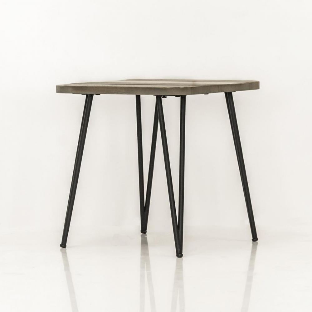 Stilingas staliukas, medinis, metalinėmis kojomis