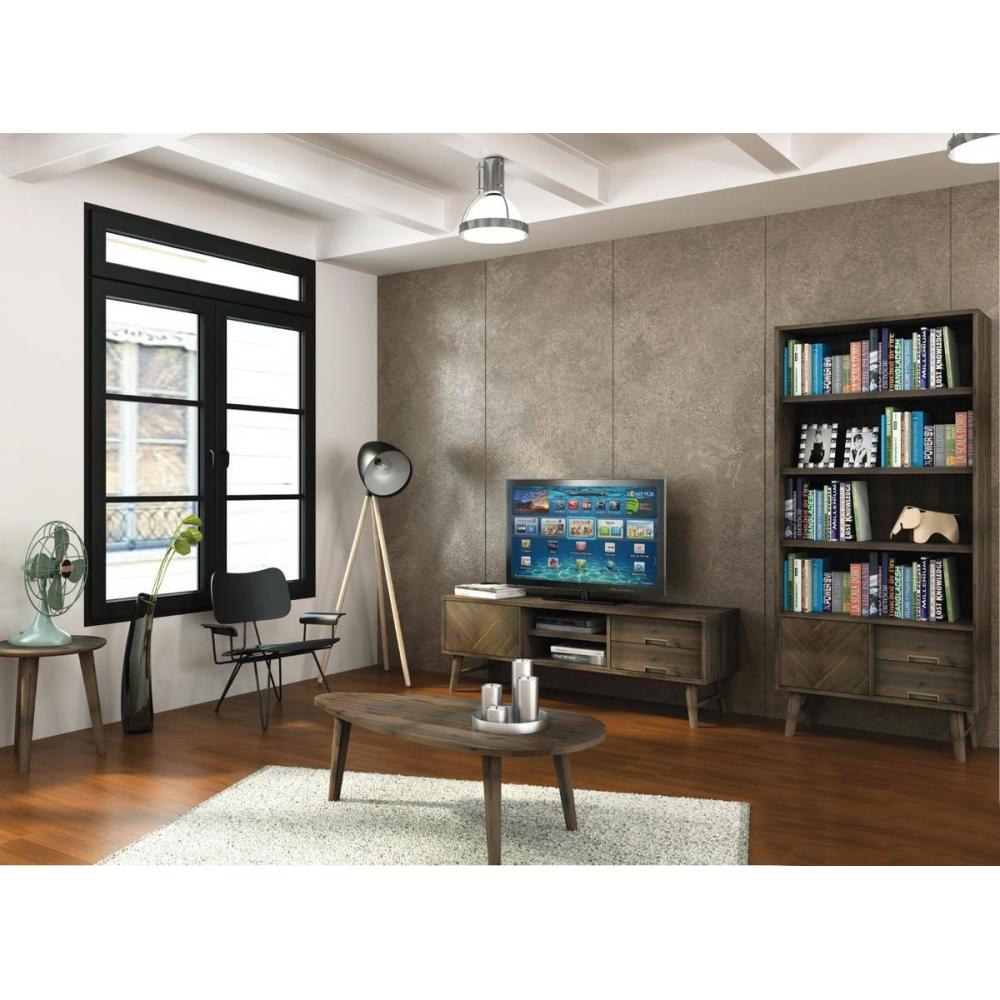 modernus TV staliukas, praktiškas, rudas