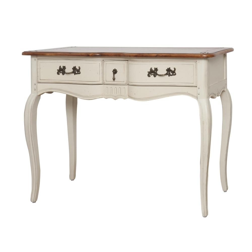 Provanso stiliaus kosmetinis staliukas, sendintas, beržo medienos