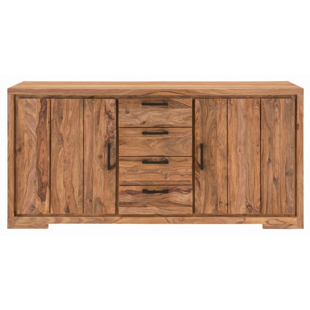 Šiuolaikinio stiliaus komoda, natūralios medienos, be kojelių