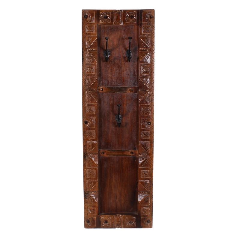 Sendinta drabužių kabykla, indiško stiliaus, medinė