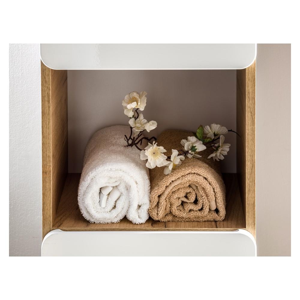 """Kokybiška pakabinama vonios spintelė, """"softclose"""" tylaus uždarymo sistema, graži"""