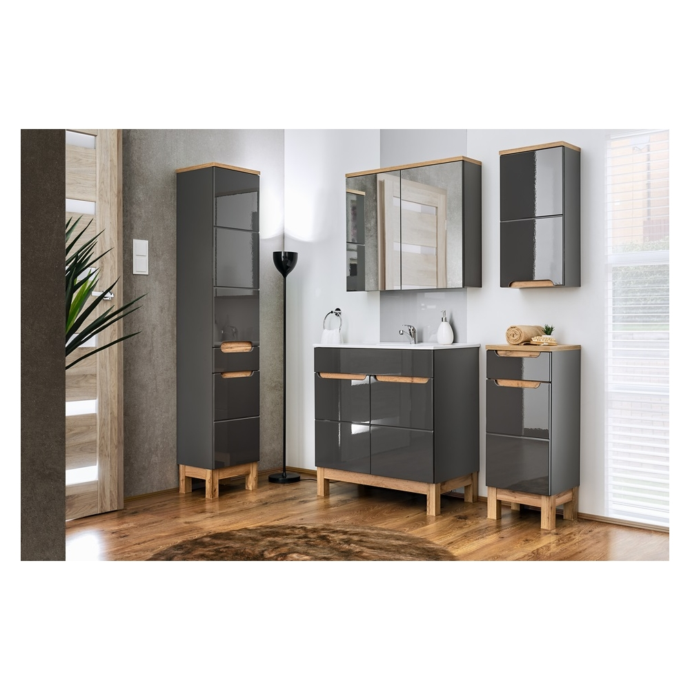 """vonios spintelė, su """"softclose"""" tylaus uždarymo sistema, medinė"""